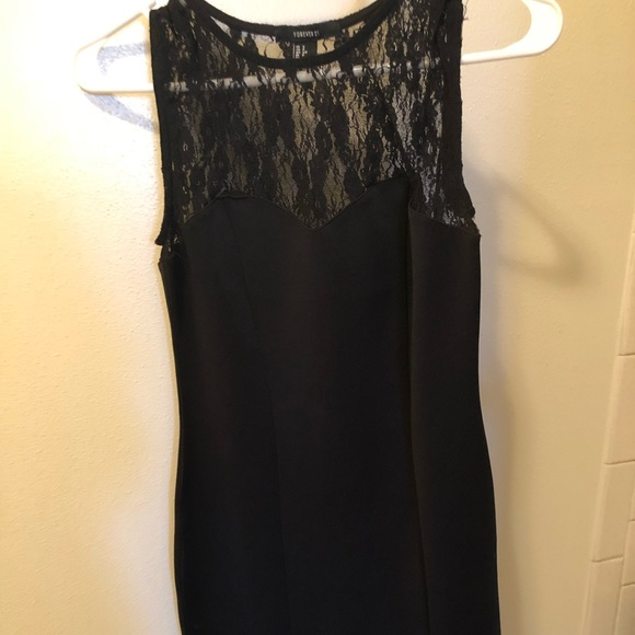 Forever 21 Dresses & Skirts - High Neck Black Lace Dress